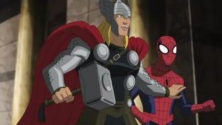 Illustration for article titled Thor mocks Spider-Man's costume & obscure DC heroes moonwalk!