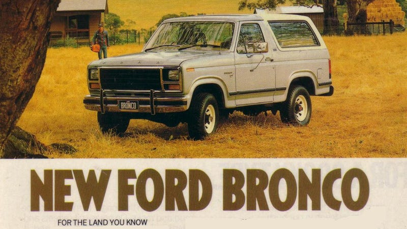 Illustration for article titled This New Ford Bronco Trademark Does Not Mean The Bronco Is Coming Back