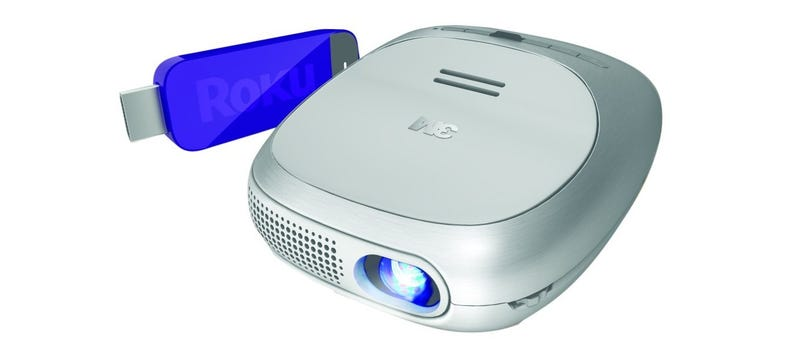 Illustration for article titled The 3M Portable Wireless Projector with Roku Streaming Stick is $170