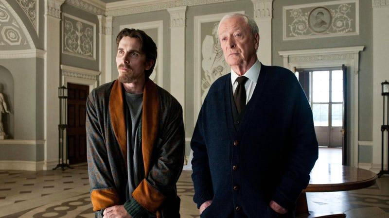 Michael Caine as Alfred (with Christian Bale as Bruce Wayne) in The Dark Knight Rises. The famous character is getting his own TV show.