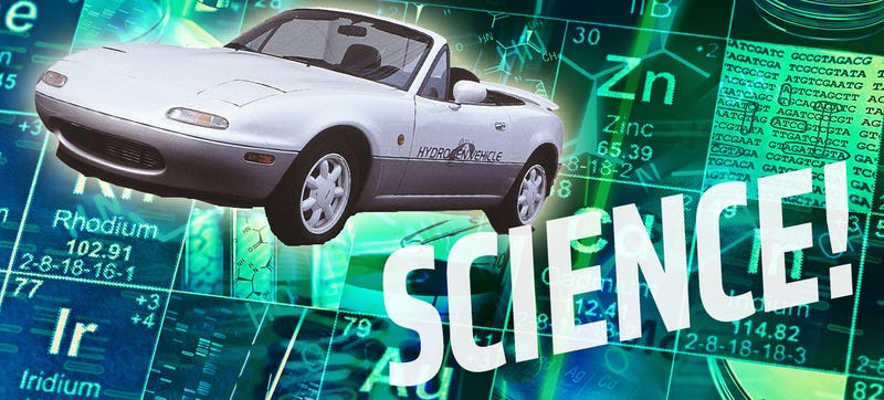 Illustration for article titled Mazda Once Built A Rotary Miata Powered By Miraculous Science-Fuel