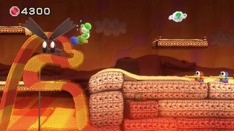 Illustration for article titled Yoshi's Woolly World is tougher than it looks, but only if you want it to be