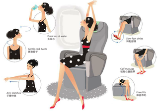 Illustration for article titled Release Tension on a Long Flight with These Stretches