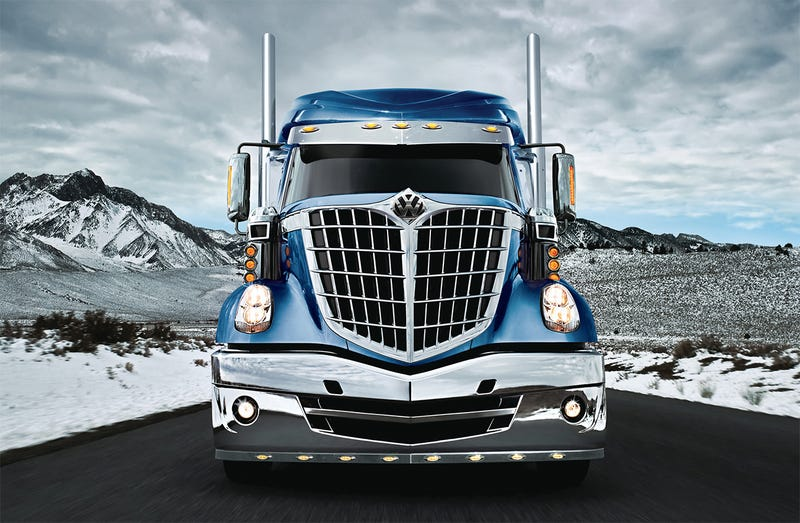 Image altered by the author. (It's an International Lonestar with a VW badge.) (Photo credit: Navistar)