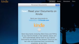 Illustration for article titled The Kindle App for iPhone and iPad Now Gets Emailed Documents (Including PDFs)