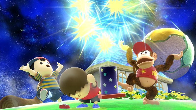 Illustration for article titled Super Smash Bros. For Wii U aims to please all who attend its raucous celebration