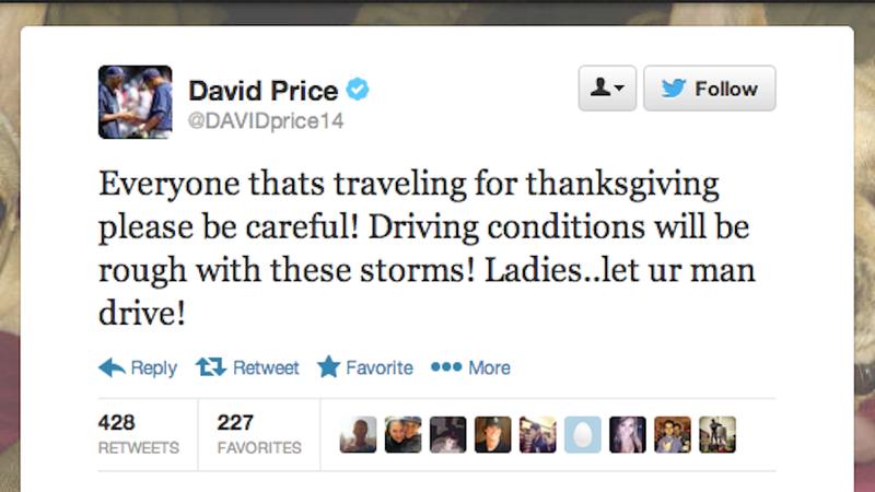 Illustration for article titled Baseball Star's Holiday Safety Tip: 'Ladies, Let Ur Man Drive'
