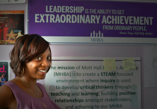 Mott Hall Bridges Academy Principal Nadia LopezVerta Ayanna/vertaayanna.com