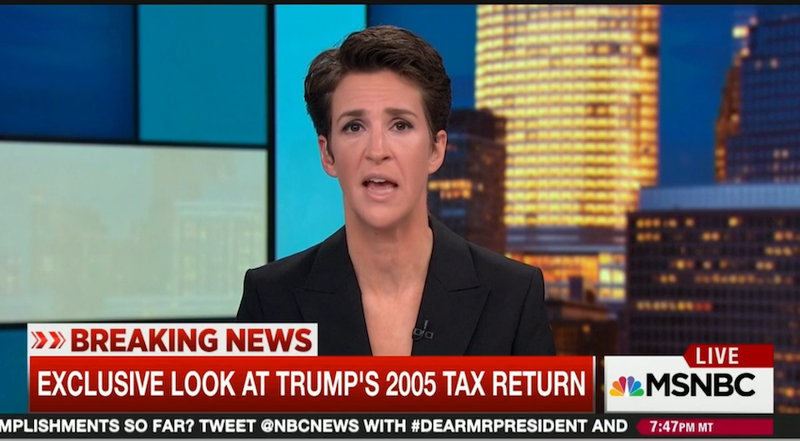 Illustration for article titled Here is Donald Trump's 2005 Tax Return, Courtesy of Rachel Maddow