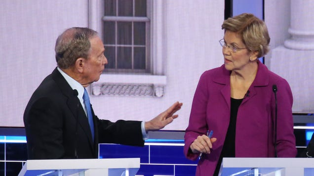 Watch Elizabeth Warren incinerate Mike Bloomberg over and over and over again