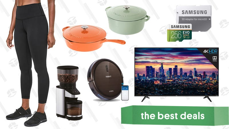 Illustration for article titled Tuesday's Best Deals: Cuisinart Cast Iron, Lululemon Leggings, TCL TVs, and More