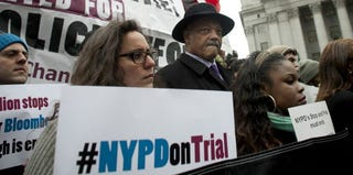 The Rev. Jesse Jackson attends a rally against the NYPD's stop-and-frisk policy. (Allison Joyce/Getty Images)