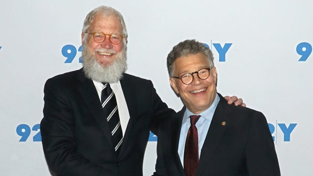 Al Franken has been cut from PBS's Dave Letterman special