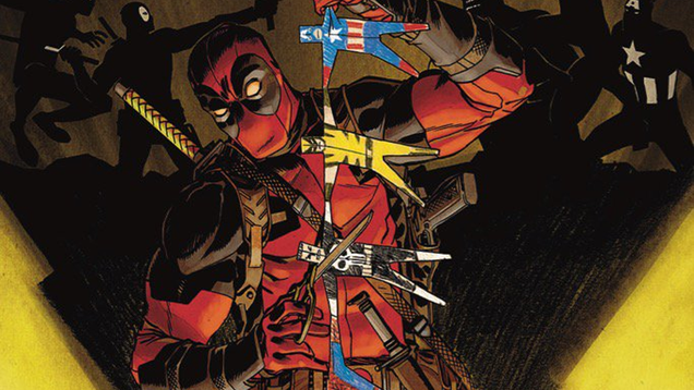 looks like deadpool is getting ready to kill the marvel universe again