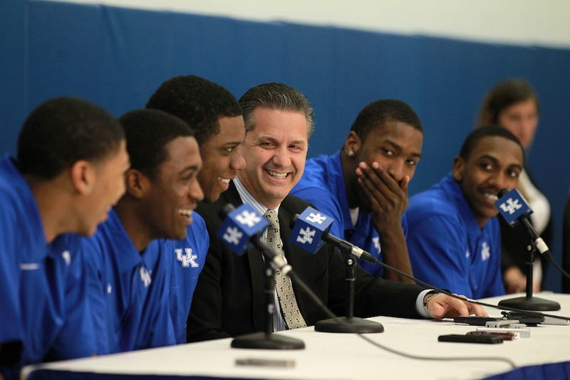 Illustration for article titled Kentucky Basketball Spent Just About As Much Money Lighting A Basketball Pep Rally As It Does On Football Recruiting