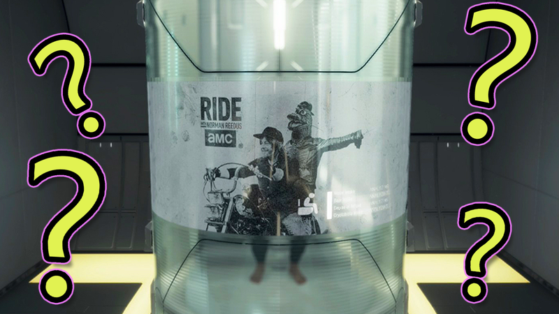 Illustration for article titled 10 Questions I Have About That Weird Advertisement That Pops Up While Pooping In Death Stranding