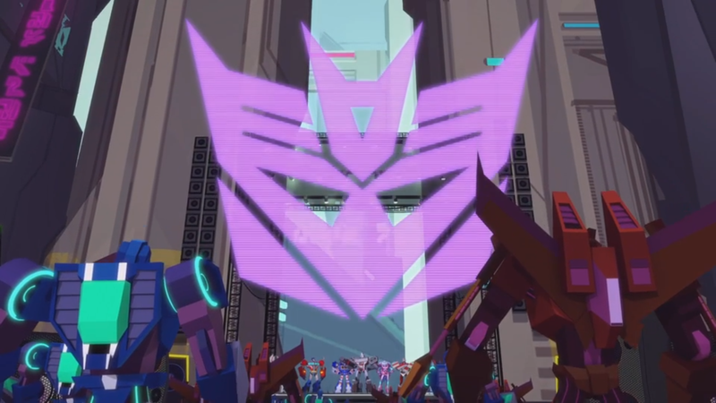 "I know the Decepticons were meant to have been ""okay"" before the whole Cybertronian civil war happened, but their logo has never not been sinister. Plus, they're called the decepticons."