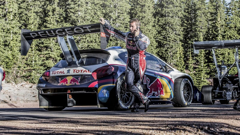 Illustration for article titled Sebastien Loeb Is Ready To Conquer Pikes Peak With Peugeot