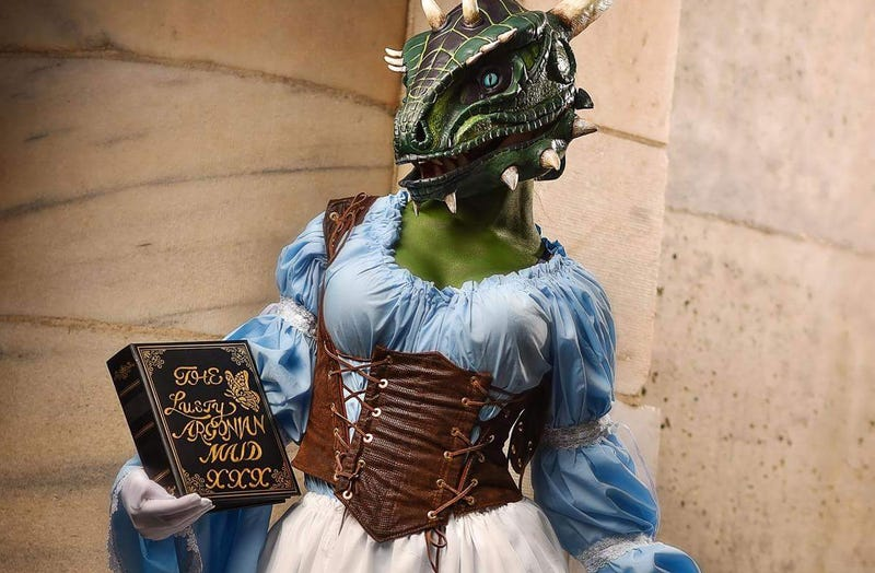 Illustration for article titled Why, It's The Lusty Argonian Maid Herself