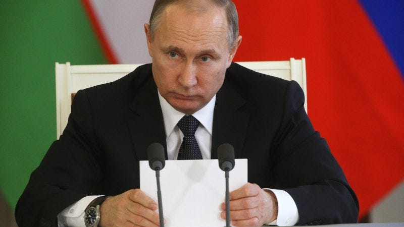 Putin, checking to see how his Brony/Iron Man slashfic is doing today. (Photo by Mikhail Svetlov/Getty Images)