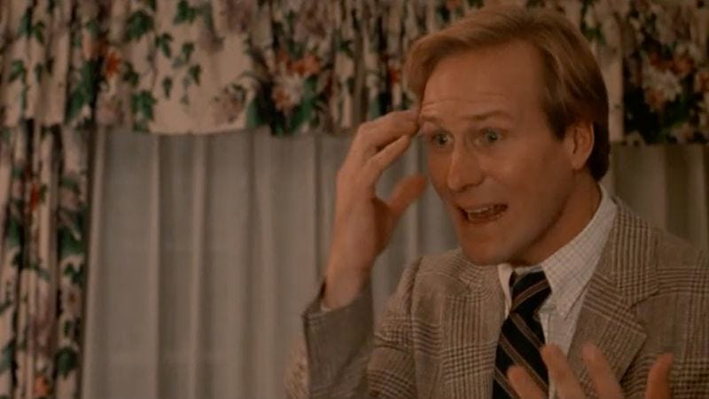 William Hurt in Broadcast News