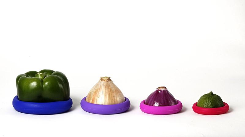 Farberware Food Huggers Reusable Silicone Food Savers, Set of 4 | $7 | Amazon