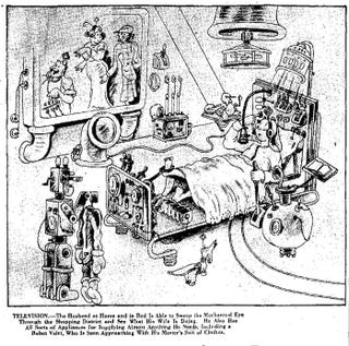 Illustration for article titled Watching Television With My Robot Butler (1932)