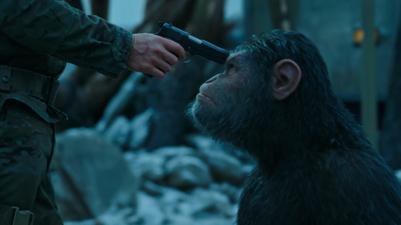 Illustration for article titled Humanity Prepares for the End in the First Trailer for War for the Planet of the Apes