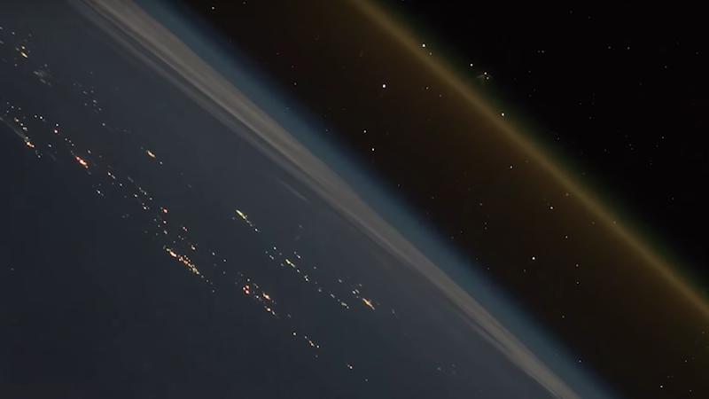El vídeo del astronauta Alexander Gerst muestra el lanzamiento de un cohete desde la Estación Espacial Internacional.