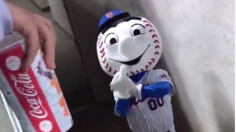 Illustration for article titled Report: Bird-Flipping Mr. Met No Longer Allowed To Be Mr. Met