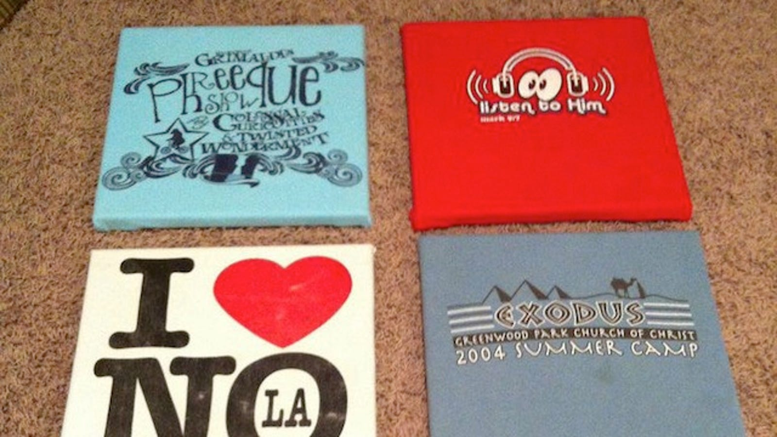 Turn Your Old T-Shirts into Wall Art