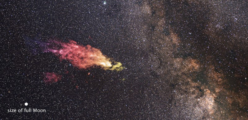 Illustration for article titled This Cosmic Fart Cloud Is On a Collision Course With Our Galaxy