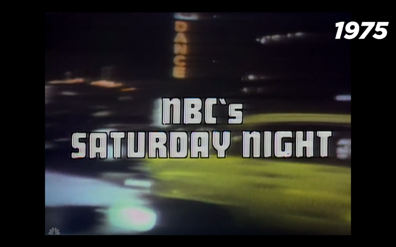40 years of inspired graphic design in SNL's title sequence