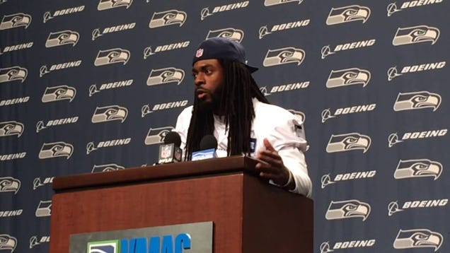Richard Sherman Addresses Police Killings Of Black Men At Press…