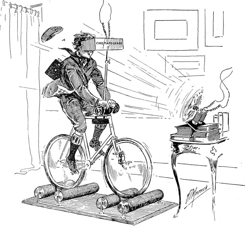I Really Want This 19th Century VR Cycling Simulator to be Real