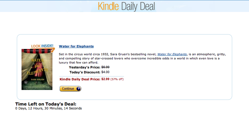 Illustration for article titled Amazon Now Offers Kindle Daily Deals