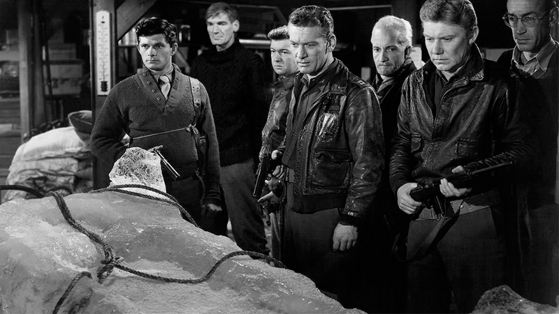 A US Air Force Team discovers something sinister in the ice in Christian Nyby and Howard Hawkes' The Thing From Another World.