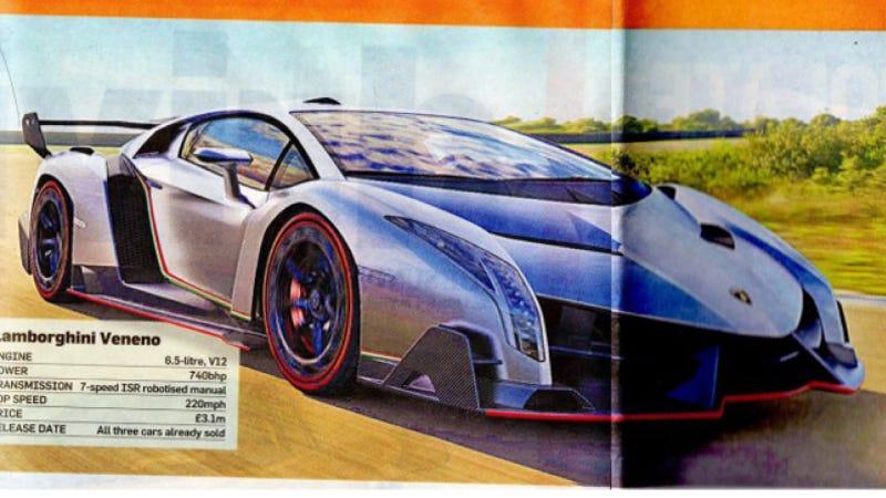 Illustration for article titled Is This The $4.6 Million Lamborghini Veneno?