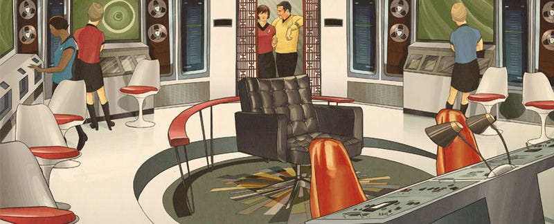 Illustration for article titled The Starship Enterprise Looks Great Decked Out In Midcentury Design