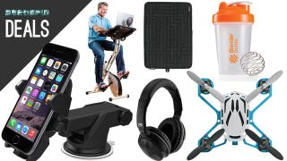 Illustration for article titled Smartphone Dash Mount, Tiny Drone, Workout While Your Work [Deals]