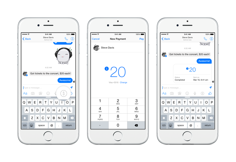 Illustration for article titled You Can Send Money To Your Friends Through Facebook Messenger Now