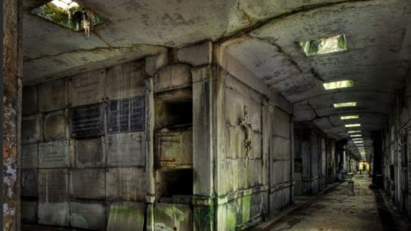 Illustration for article titled This abandoned tomb in Belgium would be the perfect set for a horror movie