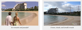 Illustration for article titled Photo Fakeout Hotel Reviews Compare Promotional Images to Reality