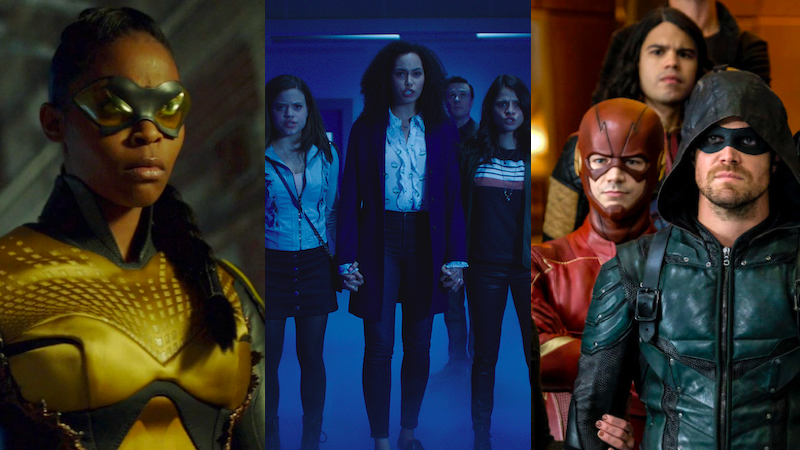 The heroes of Black Lightning, Charmed, and the Arrowverse.