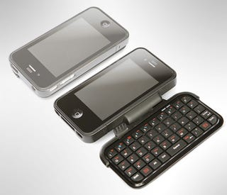 Illustration for article titled This iPhone Case Packs a QWERTYriffic Flip-Out Keyboard