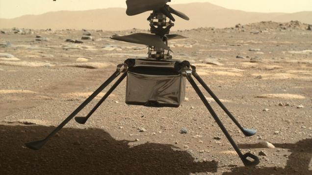 Check Out NASA's Martian Helicopter With Its Four Legs Unfurled