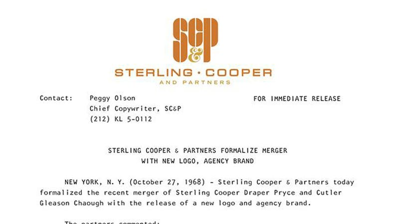 Illustration for article titled Sterling Cooper & Partners' Press Release Is Pretty Damn Fantastic
