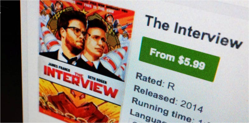 Illustration for article titled The Interview ingresó $15 millones en Internet, más que en cines