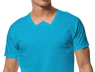 Illustration for article titled Hanes Unveils W-Neck T-Shirt