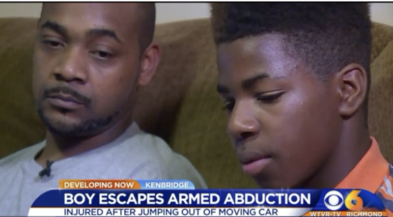 Antwaun Jones (right) with his father (WTVR-TV screenshot)